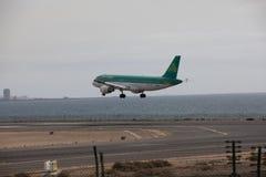 ARECIFE, ESPAGNE - AVRIL, 15 2017 : Airbus A320 d'Aer Lingus prêt Images libres de droits