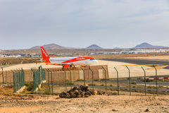 ARECIFE, ESPAGNE - AVRIL, 15 2017 : Airbus A319-100 d'easyjet lu Images stock