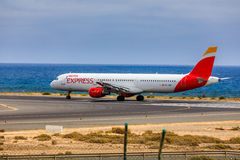 ARECIFE, ESPAGNE - AVRIL, 15 2017 : Airbus A321 d'IBÉRIE avec Photo stock