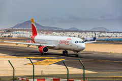 ARECIFE, ESPAGNE - AVRIL, 15 2017 : Airbus A321 d'IBÉRIE avec Image stock