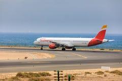 ARECIFE, ESPAGNE - AVRIL, 16 2017 : Airbus A321 d'IBÉRIE avec Images stock