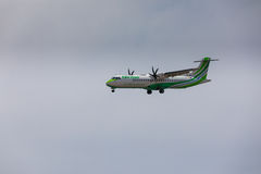 ARECIFE, ESPAGNE - AVRIL, 16 2017 : ATR 72 de Binter avec REGIS Images libres de droits