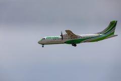 ARECIFE, ESPAGNE - AVRIL, 16 2017 : ATR 72 de Binter avec REGIS Images stock