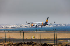 ARECIFE, ESPAGNE - AVRIL, 16 2017 : Boeing 757-300 de condor avec t Photographie stock