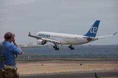 ARECIFE, ESPANHA - ABRIL, 15 2017: Airbus A330-200 do la de AirEuropa Fotos de Stock