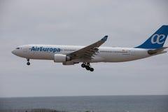 ARECIFE, ESPANHA - ABRIL, 15 2017: Airbus A330-200 do la de AirEuropa Imagens de Stock Royalty Free