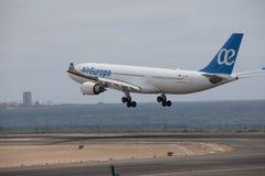 ARECIFE, ESPANHA - ABRIL, 15 2017: Airbus A330-200 do la de AirEuropa Fotografia de Stock