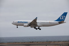ARECIFE, ESPANHA - ABRIL, 15 2017: Airbus A330-200 do la de AirEuropa Fotografia de Stock Royalty Free