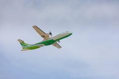 ARECIFE HISZPANIA, KWIECIEŃ, -, 16 2017: ATR 72 Binter z regis Fotografia Royalty Free