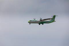 ARECIFE HISZPANIA, KWIECIEŃ, -, 16 2017: ATR 72 Binter z regis Obrazy Royalty Free