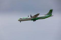 ARECIFE HISZPANIA, KWIECIEŃ, -, 16 2017: ATR 72 Binter z regis Zdjęcie Royalty Free
