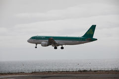 ARECIFE, SPAIN - APRIL, 15 2017: AirBus A320 of Aer Lingus ready. ARECIFE, SPAIN - APRIL, 15 2017: AirBus A320 of Aer Lingus at Lanzarote Airport stock photo