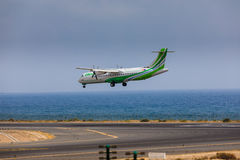 ARECIFE, SPAIN - APRIL, 16 2017: ATR 72 of Binter with the regis Stock Images