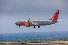 ARECIFE, SPAIN - APRIL, 16 2017: Boeing 737-800 of Jet2 with the Royalty Free Stock Photo