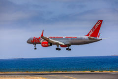 ARECIFE, SPAIN - APRIL, 15 2017: Boeing 757 - 200 of JET2 with t Royalty Free Stock Photo