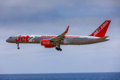 ARECIFE, SPAIN - APRIL, 15 2017: Boeing 757 - 200 of JET2 with t Royalty Free Stock Image