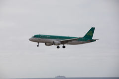 ARECIFE, SPANIEN - APRIL, 15 2017: Airbus A320 von Aer Lingus bereit Lizenzfreie Stockfotos