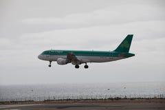ARECIFE, SPANIEN - APRIL, 15 2017: Airbus A320 von Aer Lingus bereit Stockfoto