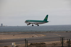 ARECIFE, SPANIEN - APRIL, 15 2017: Airbus A320 von Aer Lingus bereit Lizenzfreie Stockbilder