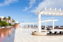 Arecife waterfront on Avenida La Marina. The Arecife waterfront on Avenida La Marina, on the island of Lanzarote Royalty Free Stock Photography