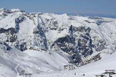 Aree del cielo, panorama del Hils, Les Deux Alpes, Francia, francese Immagini Stock