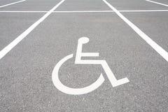 Aree di parcheggio di handicap fotografia stock