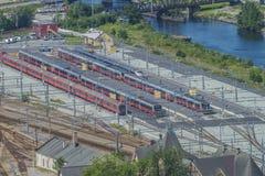 Aree per i treni, panoramica Fotografie Stock Libere da Diritti