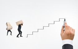 �areer ladder of young man Stock Photos