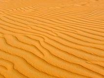 Areia amarela do deserto Imagens de Stock Royalty Free