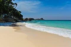 Areia branca Foto de Stock