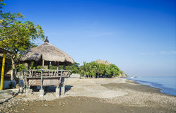 Areia branca beach near dili east timor. Areia branca beach bar near dili east timor royalty free stock photos