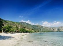 Areia branca beach and coastline near dili in east timor. Areia branca paradise beach and coastline near dili in east timor royalty free stock photo