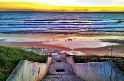 Areia Branca Beach. End of the day on the beach stock photo