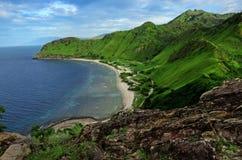 Areia branca. Beach near Dili in East Timor, Timor Leste royalty free stock photography