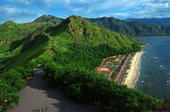 Areia branca. Beach near Dili in East Timor, Timor Leste royalty free stock photos