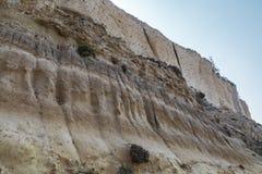 Areia Cliff Seaside Travel Background fotografia de stock royalty free