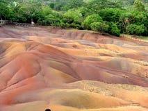 Areia colorida sete Fotos de Stock