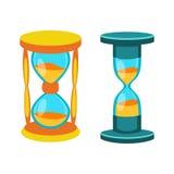 A areia cronometra o vetor isolada ilustração stock