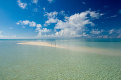 Areia da beleza do console exótico tropical de Kapalai Foto de Stock