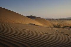 Areia da onda no por do sol Fotografia de Stock Royalty Free