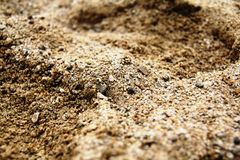 Areia da praia Foto de Stock