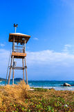 Areia da praia da torre Foto de Stock