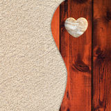 Areia de Biege e teste padrão de madeira marrom Imagens de Stock Royalty Free