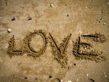 Areia do amor imagens de stock