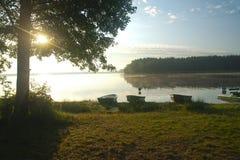 Areia do lago Foto de Stock Royalty Free