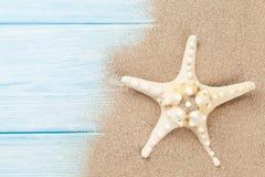Areia do mar com estrela do mar Imagem de Stock
