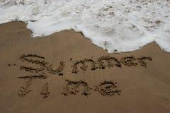 Areia do tempo de verão Imagens de Stock