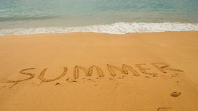 Areia do verão Fotografia de Stock Royalty Free