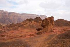 A areia do vermelho balança no parque de Timna, Israel Imagem de Stock Royalty Free