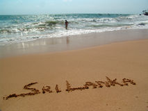 Areia dourada Imagem de Stock